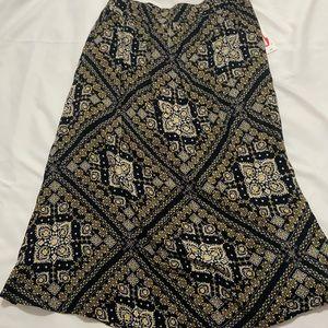 Medallion Print Wild Pearl Aline Skirt Black Small